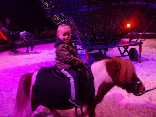 Aggelos rides a pony